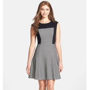 Trina Turk neroli honeycomb knit fit & flare dress